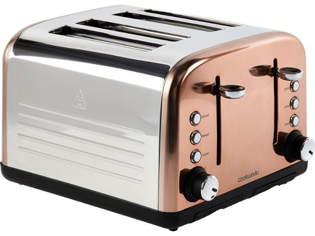 Argos Cookworks 4 Slice Copper 707/3401