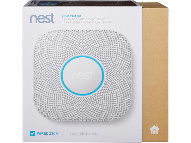 Nest Protect 2nd Generation Smoke + Carbon Monoxide Alarm front view