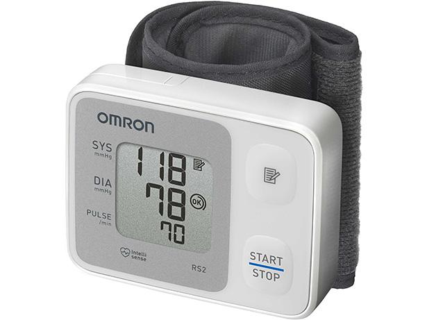 Omron RS2 Wrist  Blood Pressure Monitor front view