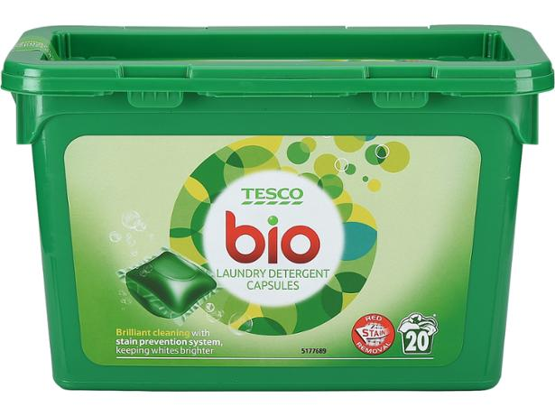 Tesco Bio Detergent Capsules Washing Powder And Laundry