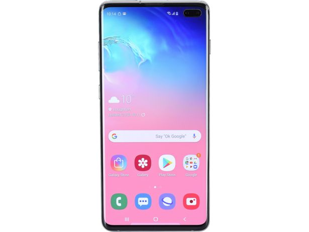 Samsung Galaxy S10+ front view