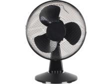 Challenge Black Oscillating Desk Fan