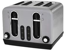 Asda George Home 4-slice grey toaster