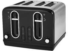 Asda George Home 4-slice black toaster