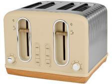 Asda George Home Cream and Wood Scandi 4 Slice GTT201C-20