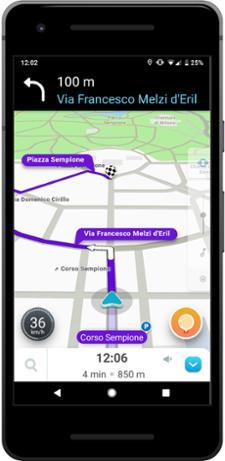 Waze GPS, Maps, Traffic Alerts & Live Navigation (Android) sat nav