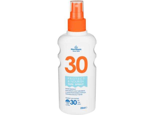 Morrisons Protect & Nourish Sun Spray SPF30