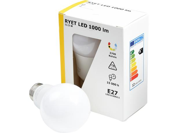 hot sale online 24746 157d0 Ikea 11.5W Ryet LED 1,000 lumen 603.046.51 light bulb review ...