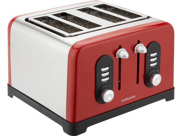 Argos Cookworks Premium 4 Slice Toaster 702/3176