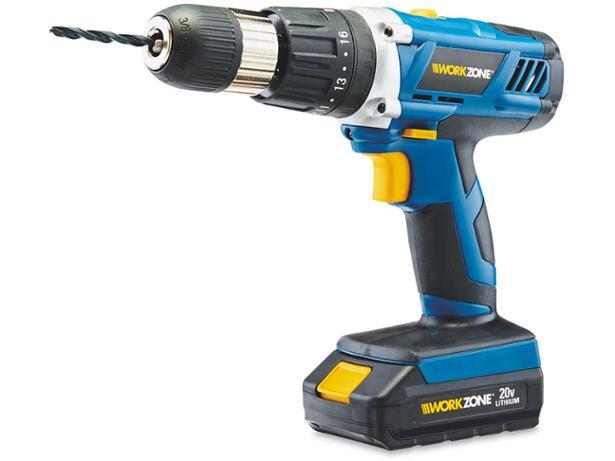 Aldi WorkZone 20V Li-ion Cordless Hammer Drill
