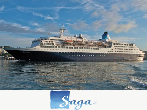 Saga Ocean cruises front view